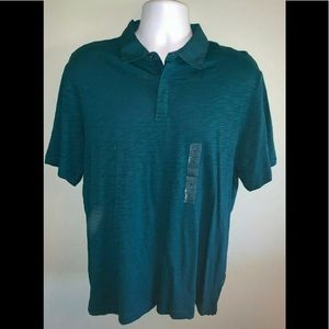 NWT Men's L/G Perry Ellis Principle Blue SS Polo